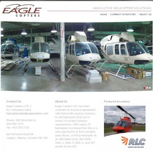 Branding Iron completes website for Eagle Copters