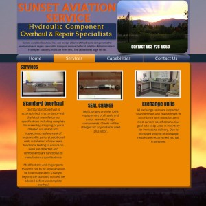 Sunset Aviation Service launches new website